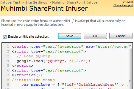 SharePoint Infuser (Free)